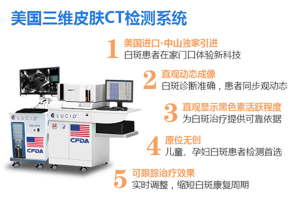 白癜风准确检测!三维皮肤CT监测系统